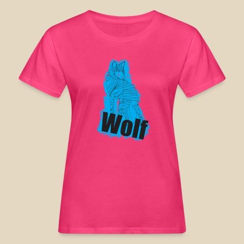 Blue Wolf - T-shirt bio Femme