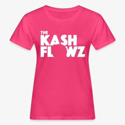 The Kash Flowz Official Logo White - T-shirt bio Femme