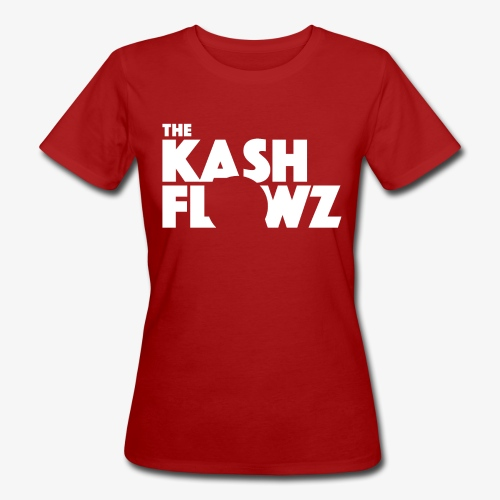 The Kash Flowz Official Logo White - T-shirt bio Femme