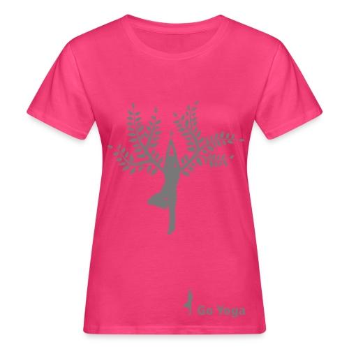 goyoga baum - Frauen Bio-T-Shirt