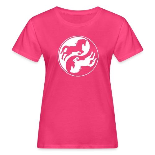 Vorschau: Horse Ying Yang - Frauen Bio-T-Shirt