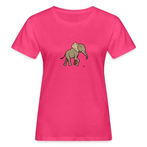Afrikanischer Elefant - Frauen Bio-T-Shirt