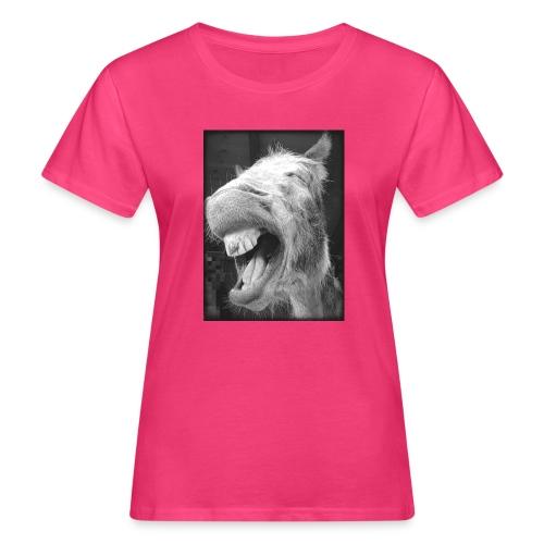 lachender Esel - Frauen Bio-T-Shirt