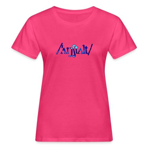 /'angstalt/ logo gerastert (blau/schwarz) - Frauen Bio-T-Shirt