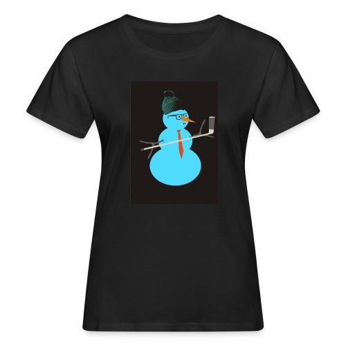 Hockey snowman - Naisten luonnonmukainen t-paita
