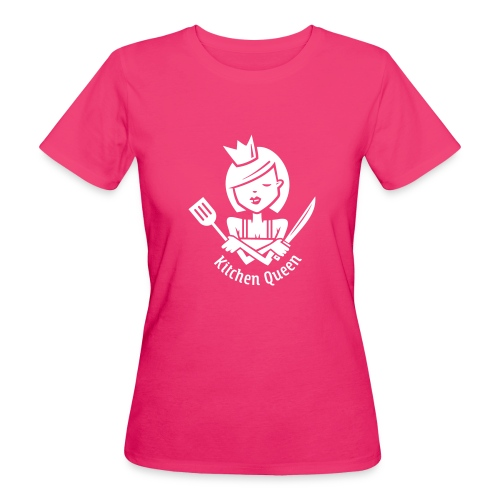 VL126_KitchenQueen_1c_inv - Frauen Bio-T-Shirt