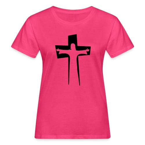 Abstrakt Jesus på korset - Ekologisk T-shirt dam