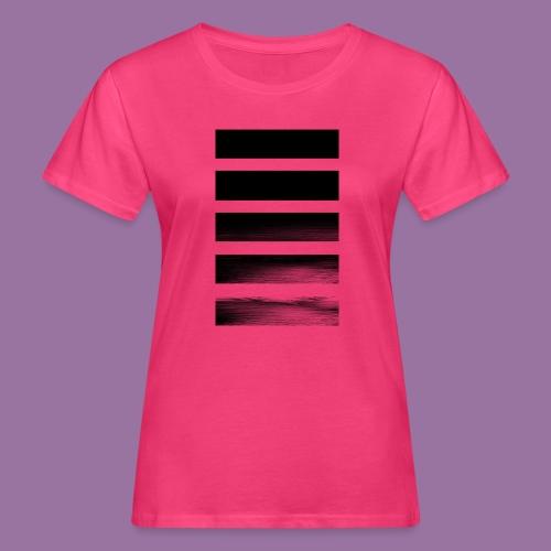 Stripes Horizontal Black - T-shirt ecologica da donna
