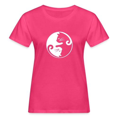 Vorschau: yin yang cat - Frauen Bio-T-Shirt