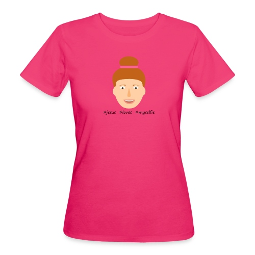 jesus loves myselfie - Frauen Bio-T-Shirt