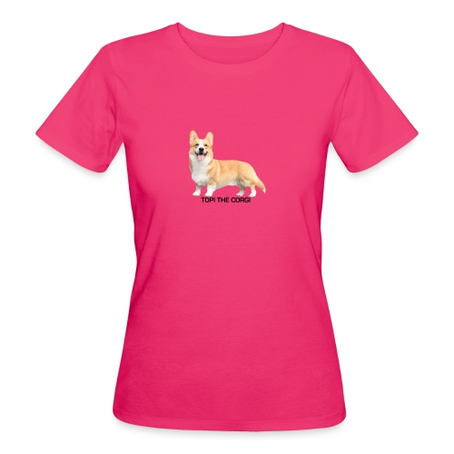 Topi the Corgi - Black text - Women's Organic T-Shirt