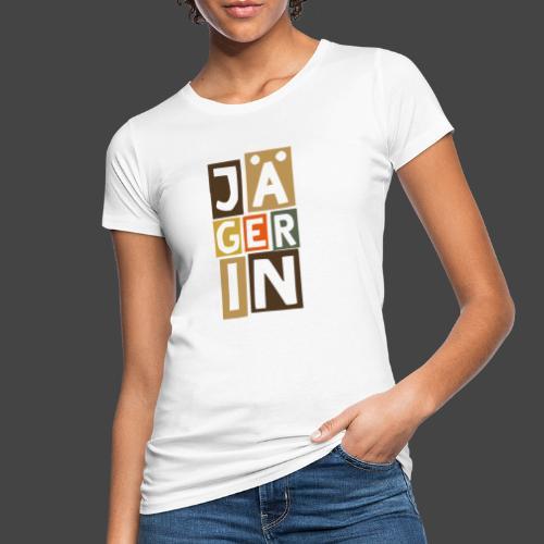 Die Jägerin in Blöcken - original Jägershirt - Frauen Bio-T-Shirt