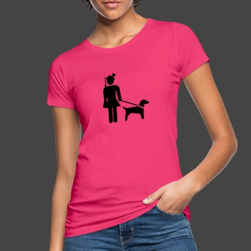"""""""Hundeführerin""""-Jägerinnen Shirt - Frauen Bio-T-Shirt"""
