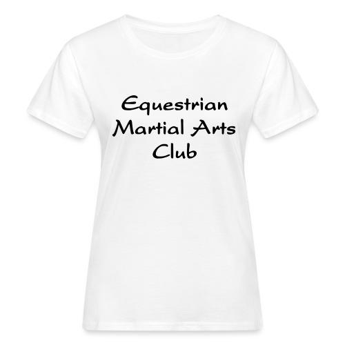 EMAC_logo_teksti - Naisten luonnonmukainen t-paita