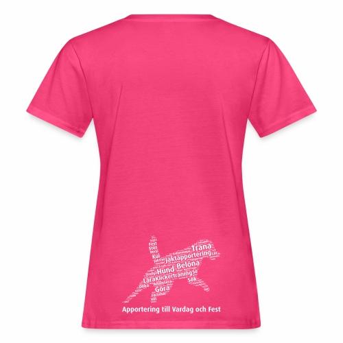 Apportering till vardag och fest wordcloud vitt - Ekologisk T-shirt dam
