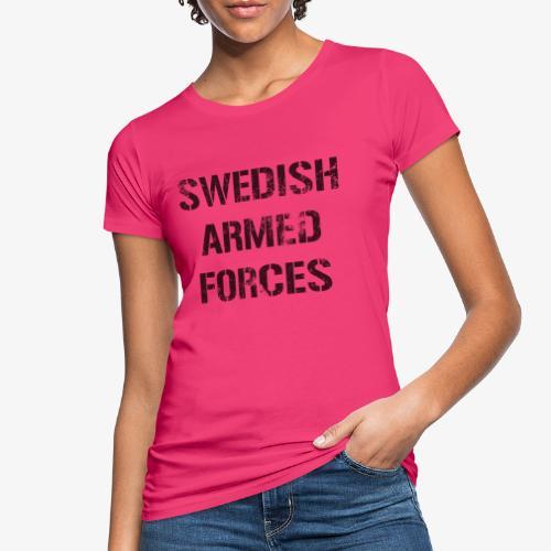 SWEDISH ARMED FORCES Rugged + SWE Flag - Ekologisk T-shirt dam