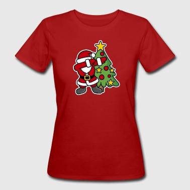 Dabbin' around the Christmas tree - Ekologiczna koszulka damska