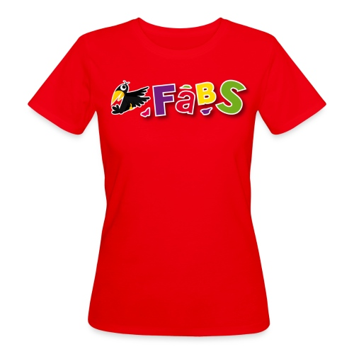 fabslogo trans - Frauen Bio-T-Shirt