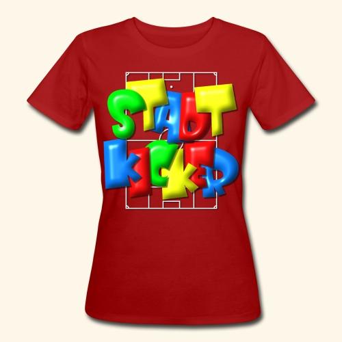 Stadtkicker im Fußballfeld - Balloon-Style - Frauen Bio-T-Shirt