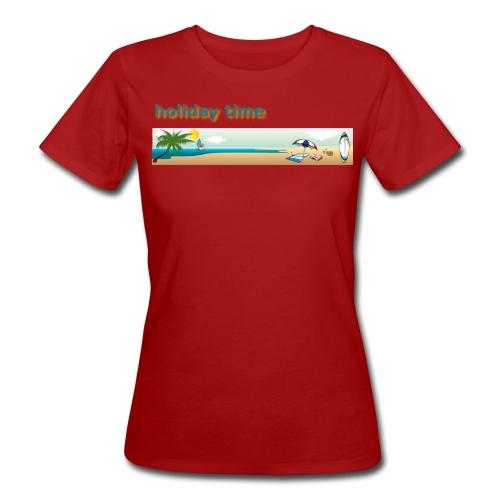 holiday time - T-shirt ecologica da donna
