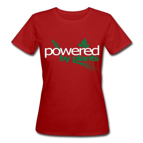 POWERED BY PLANTS - Frauen Bio-T-Shirt