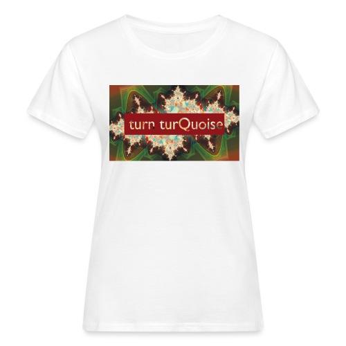 turn turQuoise Logo 2 - Frauen Bio-T-Shirt
