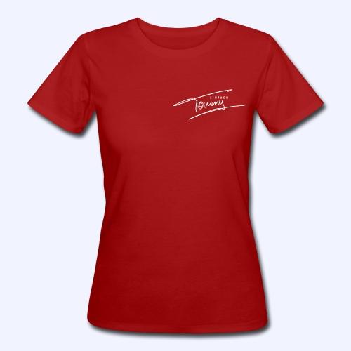 Einfach Tommy / White Font - Frauen Bio-T-Shirt