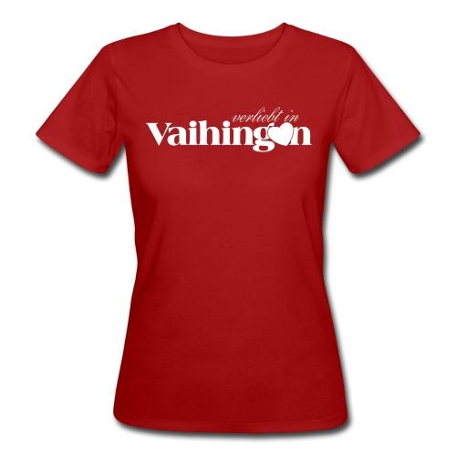 Verliebt in Vaihingen negativ - Frauen Bio-T-Shirt