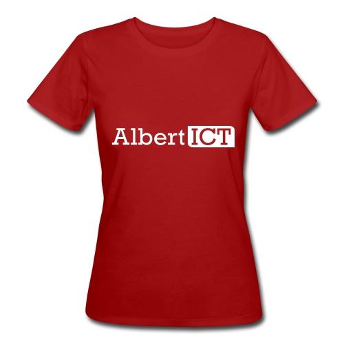 AlbertICT wit logo - Vrouwen Bio-T-shirt