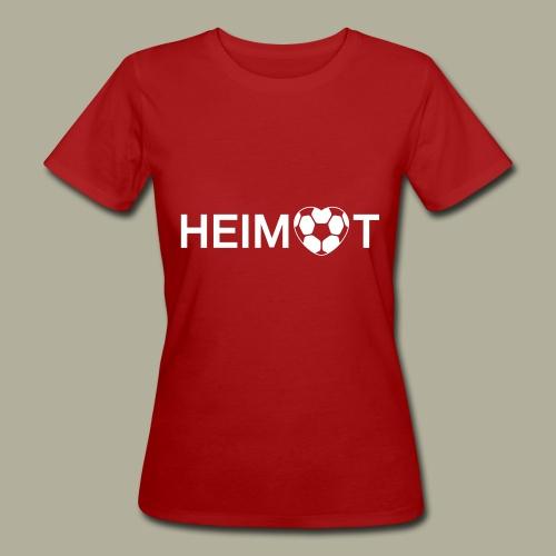 Dortmunder Heimat mit Fußballherz - Frauen Bio-T-Shirt