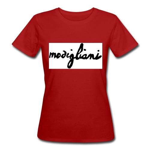 firm_white_black_big - T-shirt ecologica da donna