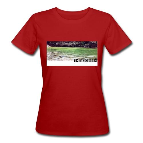 Think green - Frauen Bio-T-Shirt