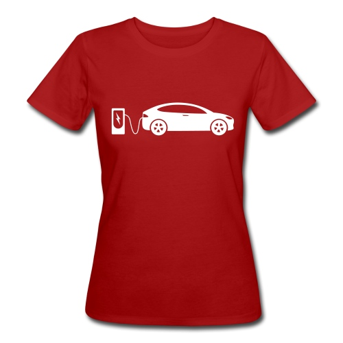 Laddande elbil - Ekologisk T-shirt dam