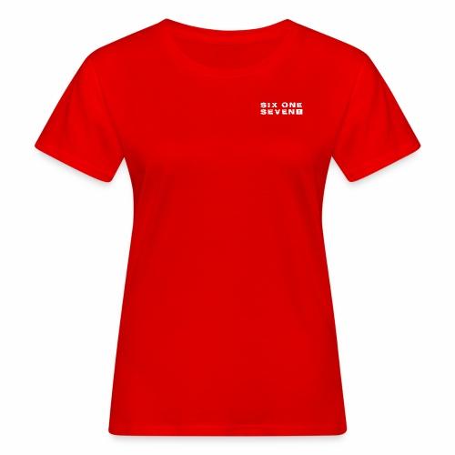 SIX ONE SEVEN 1 PROJECT LOGO FULL 1 WHITE - Women's Organic T-Shirt