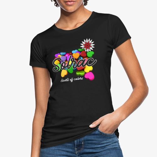 SOLRAC Hearts black - Camiseta ecológica mujer