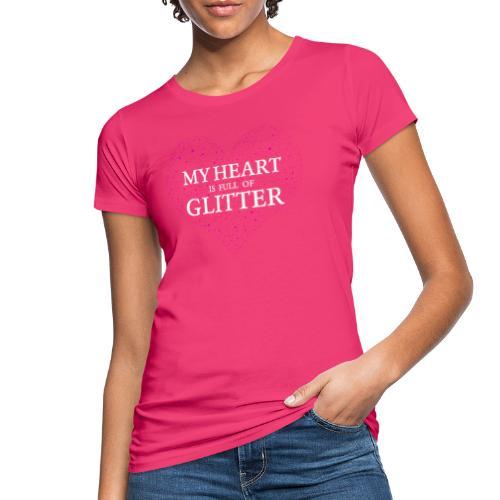Herz Glitzer - Frauen Bio-T-Shirt