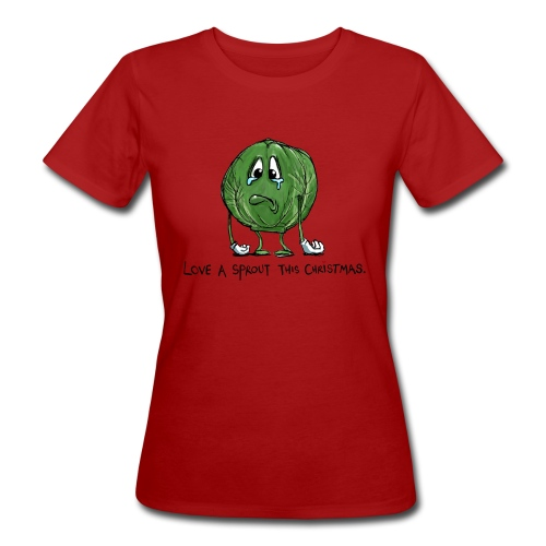 Christmas Sprout funny vegetable jumper - T-shirt ecologica da donna