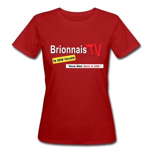 BTV logo shirt dos - T-shirt bio Femme
