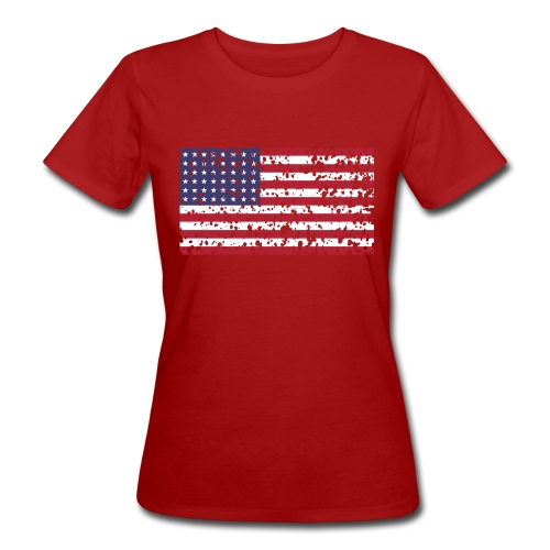 AVM WWII Trashed 48 star flag in color D'Day - Vrouwen Bio-T-shirt
