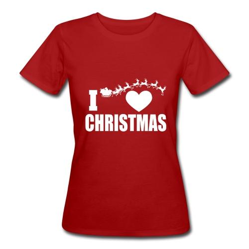 I Love Christmas Heart Natale - T-shirt ecologica da donna