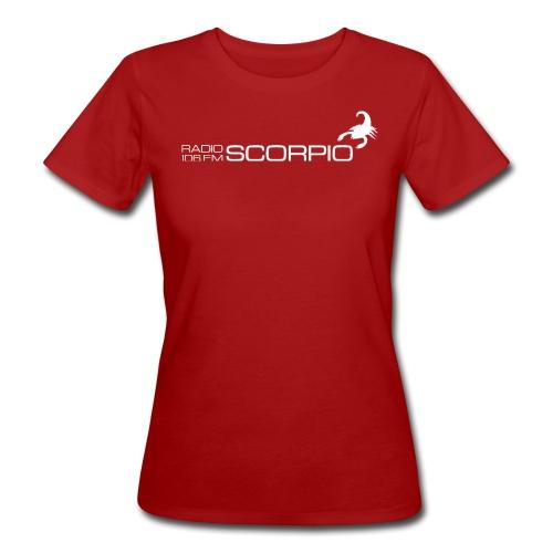 scorpio logo wit - Vrouwen Bio-T-shirt