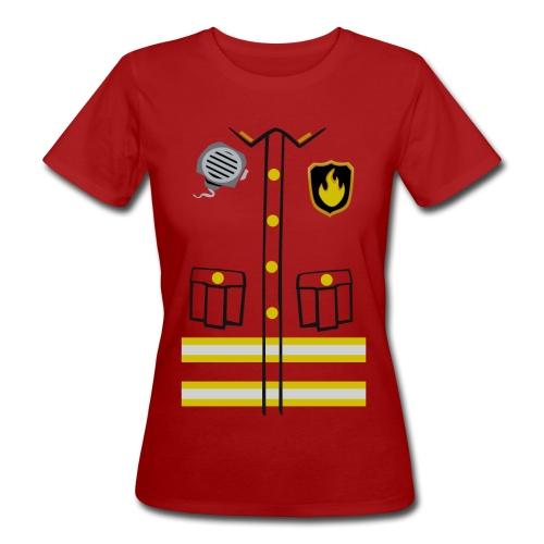 Firefighter Costume - Women's Organic T-Shirt