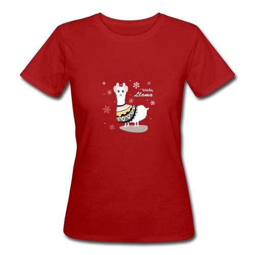 Weiches Lama Lama T-Shirt - Frauen Bio-T-Shirt