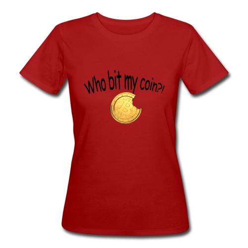 Bitcoin bite - Vrouwen Bio-T-shirt