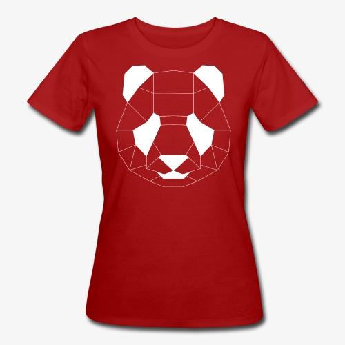 Panda Geometrisch weiss - Frauen Bio-T-Shirt