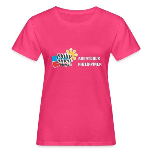 Philippinen-Blog Logo deutsch schwarz/weiss - Frauen Bio-T-Shirt