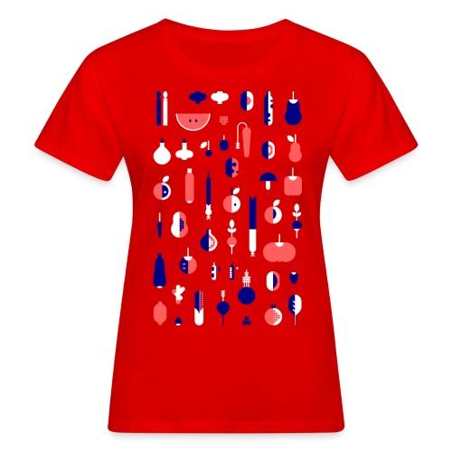 Gemüse Blau Hochformat - Frauen Bio-T-Shirt
