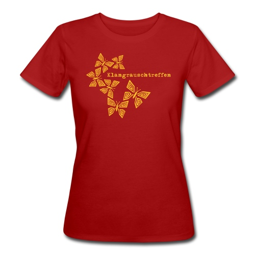 KlangRauschTreffen Schmetterlinge mit Schrift - Frauen Bio-T-Shirt