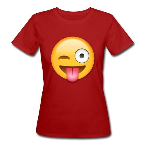 Winking Face - Frauen Bio-T-Shirt