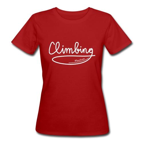 Climbing feelfree - Frauen Bio-T-Shirt
